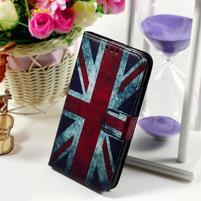 Peňaženkové puzdro pre Sony Xperia E4g - UK vlajka