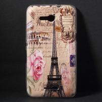 Gélový obal pre Sony Xperia E4g - Eiffelova veža