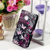 Peňaženkové puzdro pre Sony Xperia E4g - motýľikovia