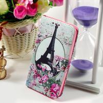 Peňaženkové puzdro pre Sony Xperia E4g - Eiffelova veža