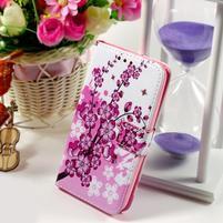 Peňaženkové puzdro na Sony Xperia E4g - kvitnúca vetvička