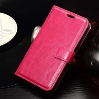 Horse PU kožené pouzdro na mobil Sony Xperia E4g - rose