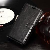 Horse PU kožené puzdro pre mobil Sony Xperia E4g - čierne
