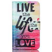 Emotive knížkové puzdro pre Sony Xperia E4g - love