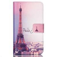Emotive knížkové puzdro pre Sony Xperia E4g - Eiffelova veža