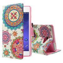 Standy Peňaženkové puzdro Sony Xperia M2 Aqua - kaleidoskop