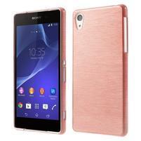 Broušený gelový obal na Sony Xperia Z2 - růžový