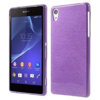 Brúsený gélový obal pre Sony Xperia Z2 - fialový