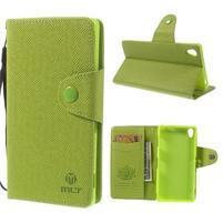 Zelené Peňaženkové puzdro pre Sony Xperia Z3