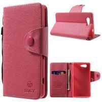 Rose peněženkové pouzdro na Sony Xperia Z3 Compact