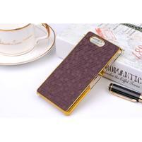 Elegantní kryt se zlatým lemem Sony Xperia Z3 Compact - fialový