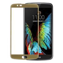Celoplošné fixačné tvrdené sklo pre displej LG K10 - zlaté