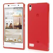 Gélové puzdro na Huawei Ascend P6 - červené