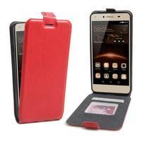 Flipové PU kožené puzdro na Huawei Y5 II - červené