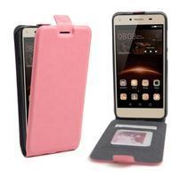 Flipové PU kožené puzdro na Huawei Y5 II - růžové