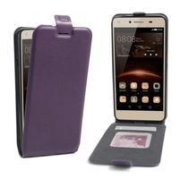 Flipové PU kožené puzdro na Huawei Y5 II - fialové