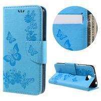 Butterfly PU kožené puzdro na mobil Huawei Y5 II - světlemodré