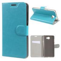 Horse PU kožené puzdro na mobil Huawei Y5 II - modré
