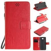 Dandelion PU kožené puzdro na Huawei Y5 II - červené