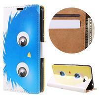 Emotive peňaženkové puzdro na Huawei Y6 II Compact - modrá príšera