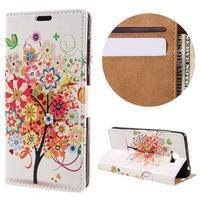Emotive peňaženkové puzdro na Huawei Y6 II Compact - kvetinový strom