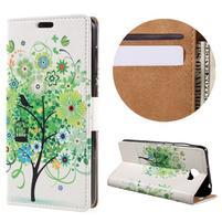 Emotive peněženkové pouzdro na Huawei Y6 II Compact - zelený strom