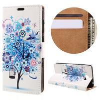 Emotive peňaženkové puzdro na Huawei Y6 II Compact - modrý strom
