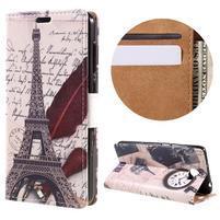 Emotive peňaženkové puzdro na Huawei Y6 II Compact - Eiffelova veža