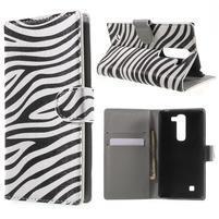 Pěněženkové puzdro na LG G4c H525n - zebra