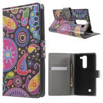 Peňaženkové puzdro pre LG G4c H525n - farebné kruhy