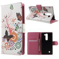 Peňaženkové puzdro pre LG G4c H525n - motýľkové