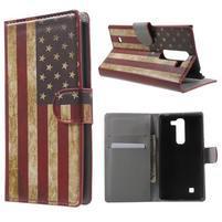 Peňaženkové puzdro pre LG G4c H525n - vlajka USA