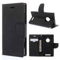Kožené peňaženkové puzdro na Nokia Lumia 830 - čierné