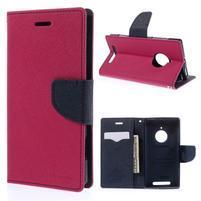 Kožené peňaženkové puzdro na Nokia Lumia 830 - rose