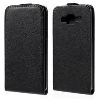 Flipové puzdro pre Samsung Galaxy J5 - čierne