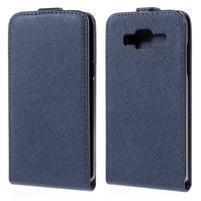 Flipové puzdro pre Samsung Galaxy J5 - tmavo modré