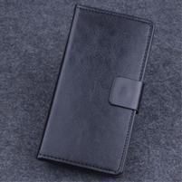 Koženkové puzdro pre mobil Lenovo A536 - čierne