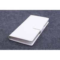 Peňaženkové kožené puzdro pre Lenovo P70 - biele
