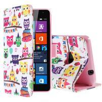 Safety puzdro pre mobil Microsoft Lumia 535 - malej sovy