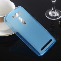 Matný gélový kryt pre Asus Zenfone 2 Laser ZE500KL -  modrý