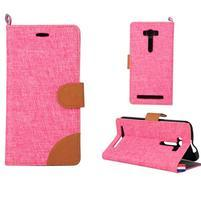 Jeans puzdro na mobil Asus Zenfone 2 Laser - ružové
