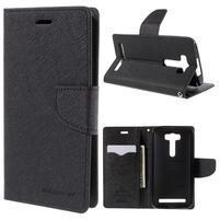 Diary štýlové puzdro na Asus Zenfone 2 Laser - čierne