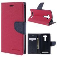 Diary štýlové puzdro pre Asus Zenfone 2 Laser - rose