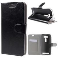Horse puzdro pre mobil Asus Zenfone 2 Laser - čierne