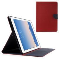 Diary peňaženkové puzdro na iPad Air - červené