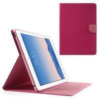 Diary peňaženkové puzdro pre iPad Air - rose