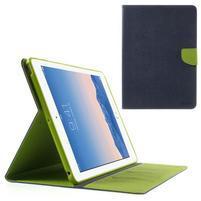 Diary peňaženkové puzdro na iPad Air - tmavomodré