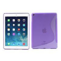 S-line gélový ochranný obal na iPad Air - fialový