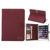 Texture luxusné puzdro na iPad Mini 3, iPad Mini 2 a iPad Mini - vínové