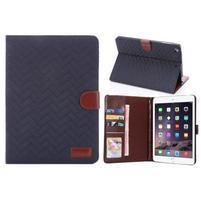Texture luxusné puzdro pre iPad Mini 3, iPad Mini 2 a iPad Mini - modré
